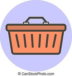 apartamento, estilo, vetorial, basket., shopping