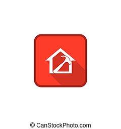 apartamento, indústria, ícone