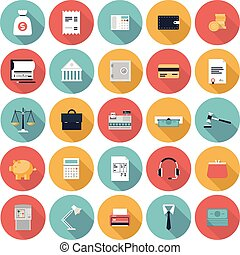 apartamento, jogo, finanças, mercado, ícones