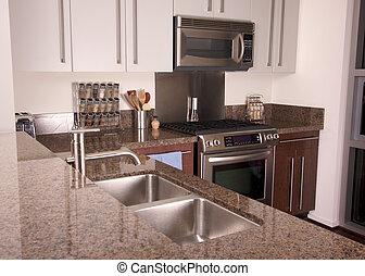 apartamento, modernos, cozinha