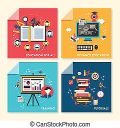 apartamento, treinamento, conceito, ilustração, desenho, educação