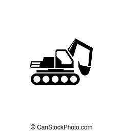 apartamento, vetorial, escavador, ícone