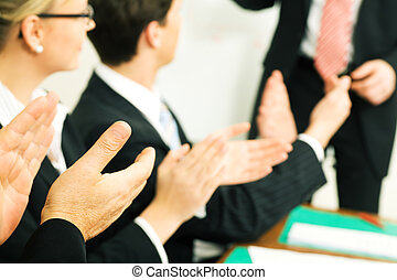 aplauso, negócio, presentation: