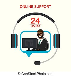 apoio, online, serviço, cliente, conceito