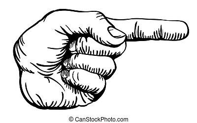 apontar dedo