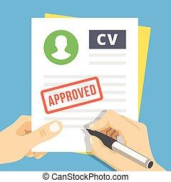 approved., apartamento, cv, ilustração