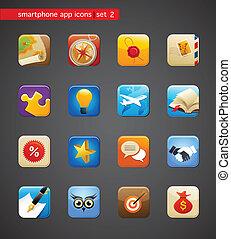 apps, cobrança, ícones