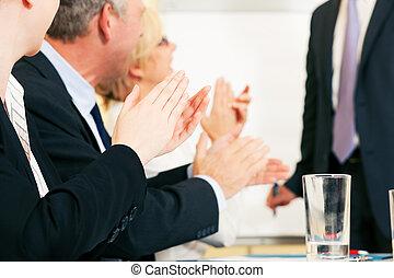 apresentação, aplauso, negócio