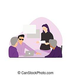 apresentação negócio, reunião, companhia