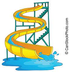 aquapark, imagem, 2, tema