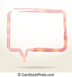 aquarela, fala, vetorial, bolha, experiência.