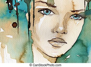 aquarela, ilustração