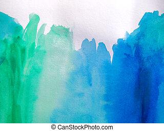 aquarela, pintado, abstratos, fundo