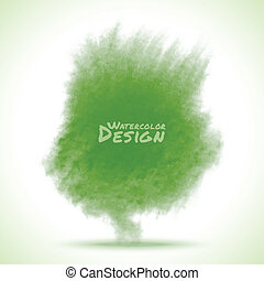 aquarela, verde, splatter.