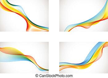 arco íris, abstratos, fundos