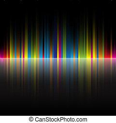 arco íris, abstratos, pretas, cores, fundo