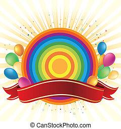 arco íris, balloon