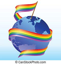arco íris, bandeira