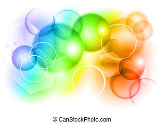 arco íris, bolha