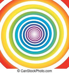 arco íris, branca, espiral