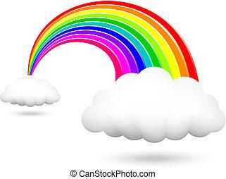 arco íris, brilhante