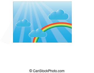 arco íris, céu