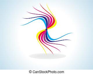 arco íris, coloridos, forma abstrata