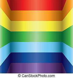 arco íris, coloridos, fundo