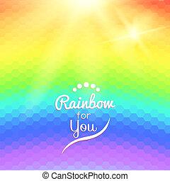arco íris, coloridos, fundo, ondas