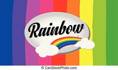 arco íris, desenho, fundo