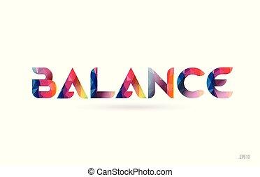 arco íris, equilíbrio, palavra, colorido, texto, desenho, logotipo, suitable