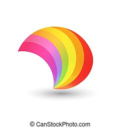 arco íris, estilo, forma