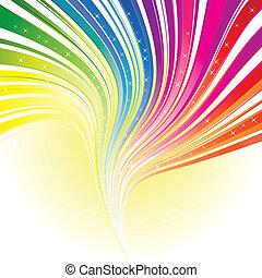 arco íris, estrelas, cor, abstratos, listra, fundo