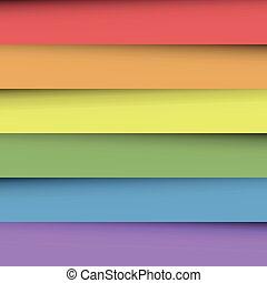 arco íris, folhas, coloridos, spectrum., abstratos, papel parede, sobrepondo, papel, effect., cores, vetorial, fundo, sombra, feliz