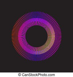 arco íris, gradiente, sunburst, círculo, vetorial