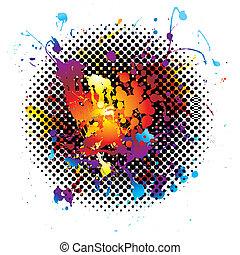 arco-íris grunge, splatter