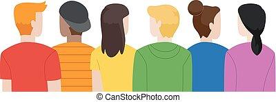arco íris, ilustração, juventude, lgbt, cores, adolescentes