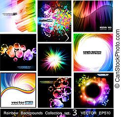 arco íris, jogo, fundos, -, cobrança, 3