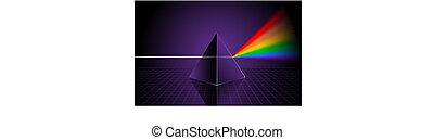 arco íris, piramide