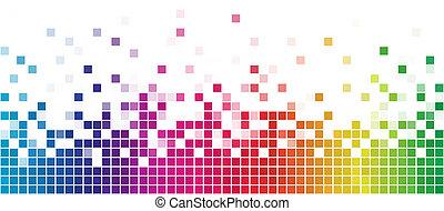 arco íris, quadrado, coloridos, space., branca, cópia, mosaico