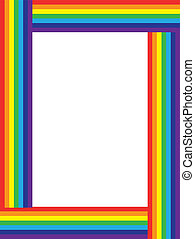 arco íris, quadro