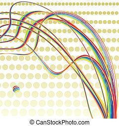 arco íris, retro, fundo