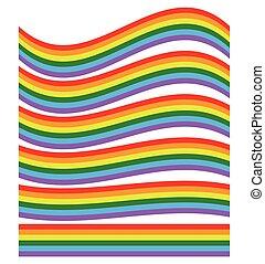 arco íris, shape(s), isolado, ilustração, white.