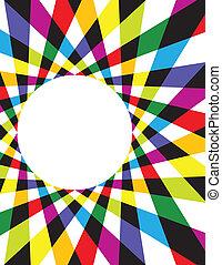 arco íris, spirograph, fundo