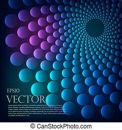 arco íris, vórtice, vetorial, experiência.