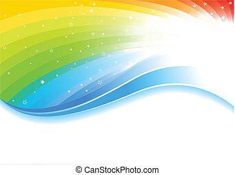 arco íris, vetorial, fundo