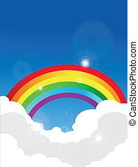 arco íris, vetorial