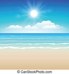 areia, céu, mar