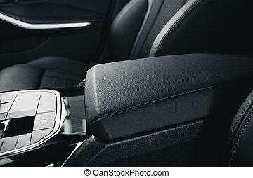 armrest, fim, car, cima, luxo, passageiro