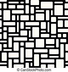 arredondado, abstratos, geomã©´ricas, seamless, retângulos, pattern., ov, branca
